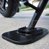 KiWAV Motorcycle kickstand pad support black x1 piece soft ground outdoor parking - http://foldingmotorcycletrailer.com/kiwav-motorcycle-kickstand-pad-support-black-x1-piece-soft-ground-outdoor-parking/