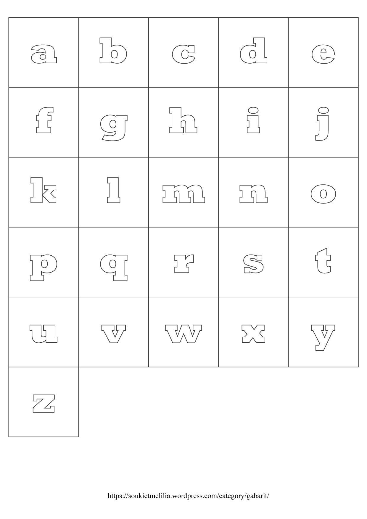 Gabarits Alphabet A Telecharger Au Format Pdf Lettre Alphabet A Imprimer Alphabet Alphabet A Imprimer