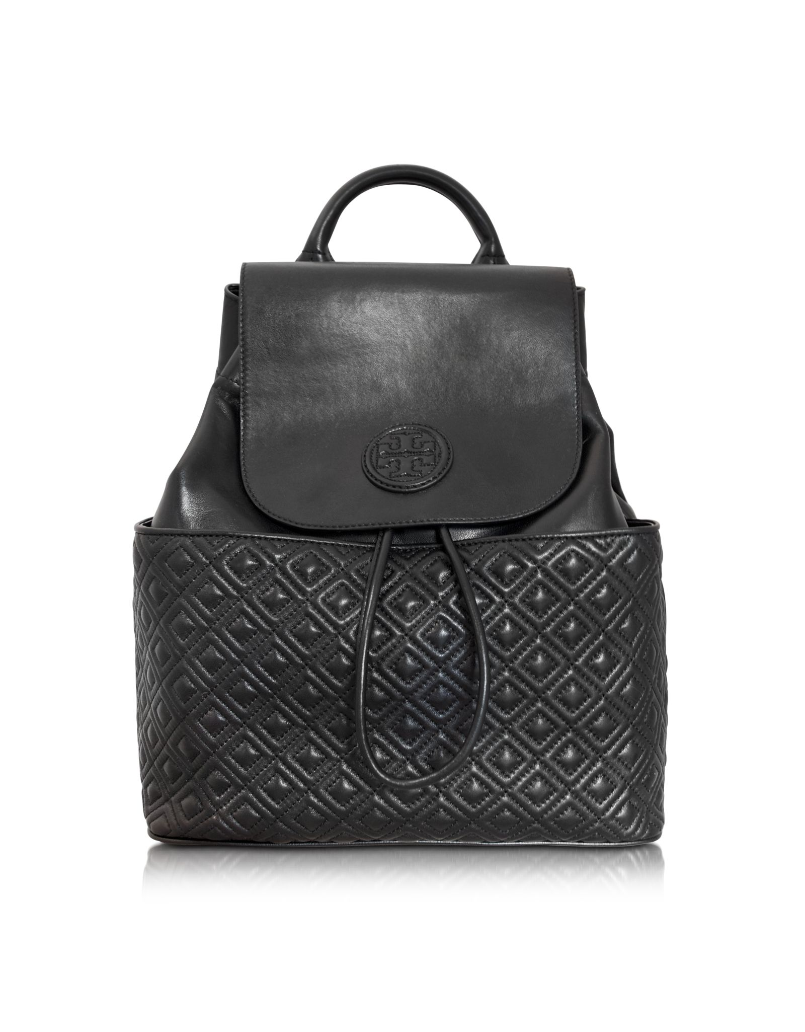 85c4aaad6e37 Tory Burch Marion Quilted Smooth Leather Backpack at FORZIERI