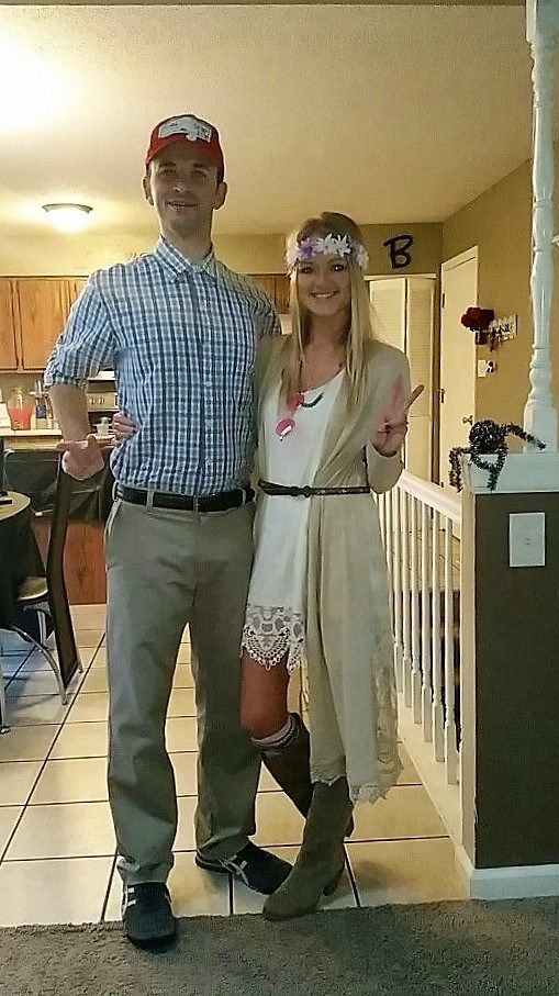 diy couples halloween costume ideas forrest gump and jenny movie theme couples costume idea