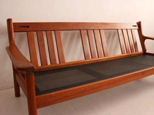Danish Teak Sofa By Juul Kristensen For Glostrup Mobelfabrik Wooden Sofa Teak Sofa Furniture
