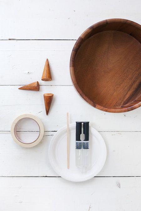 A stunning DIY bowl planter using only a few materials.