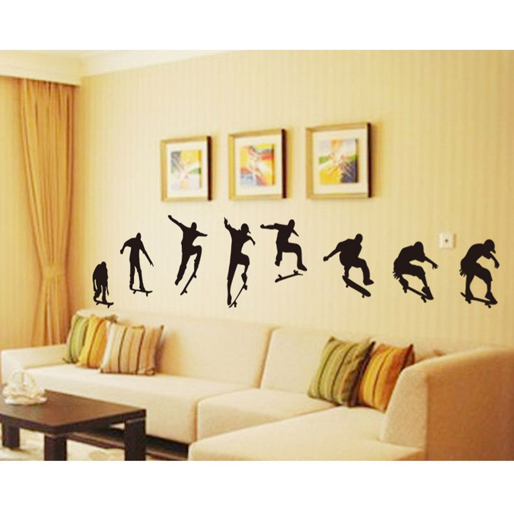 Details about Extreme Sports Skateboard Wall Stickers wall decals ...