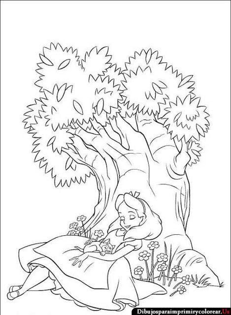 Dibujos de Alicia en el país de las maravillas para Imprimir y ...