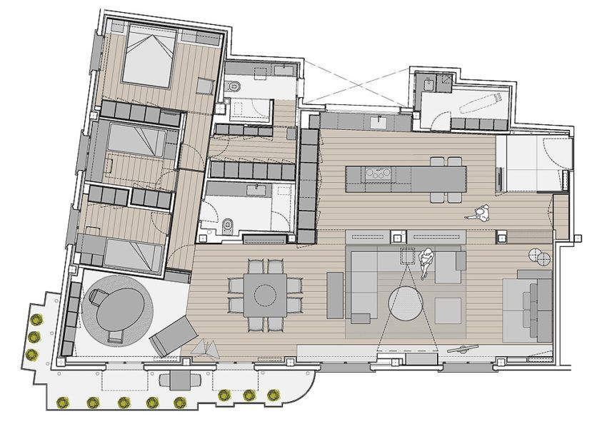 Apartment With Spectacular Views Over The City Of Seville In Spain Floor Plans Apartment Projects Classic Building