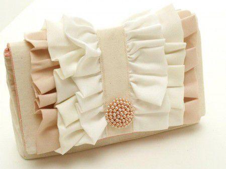 Como decorar una simple cartera con tela | Patrón para coser