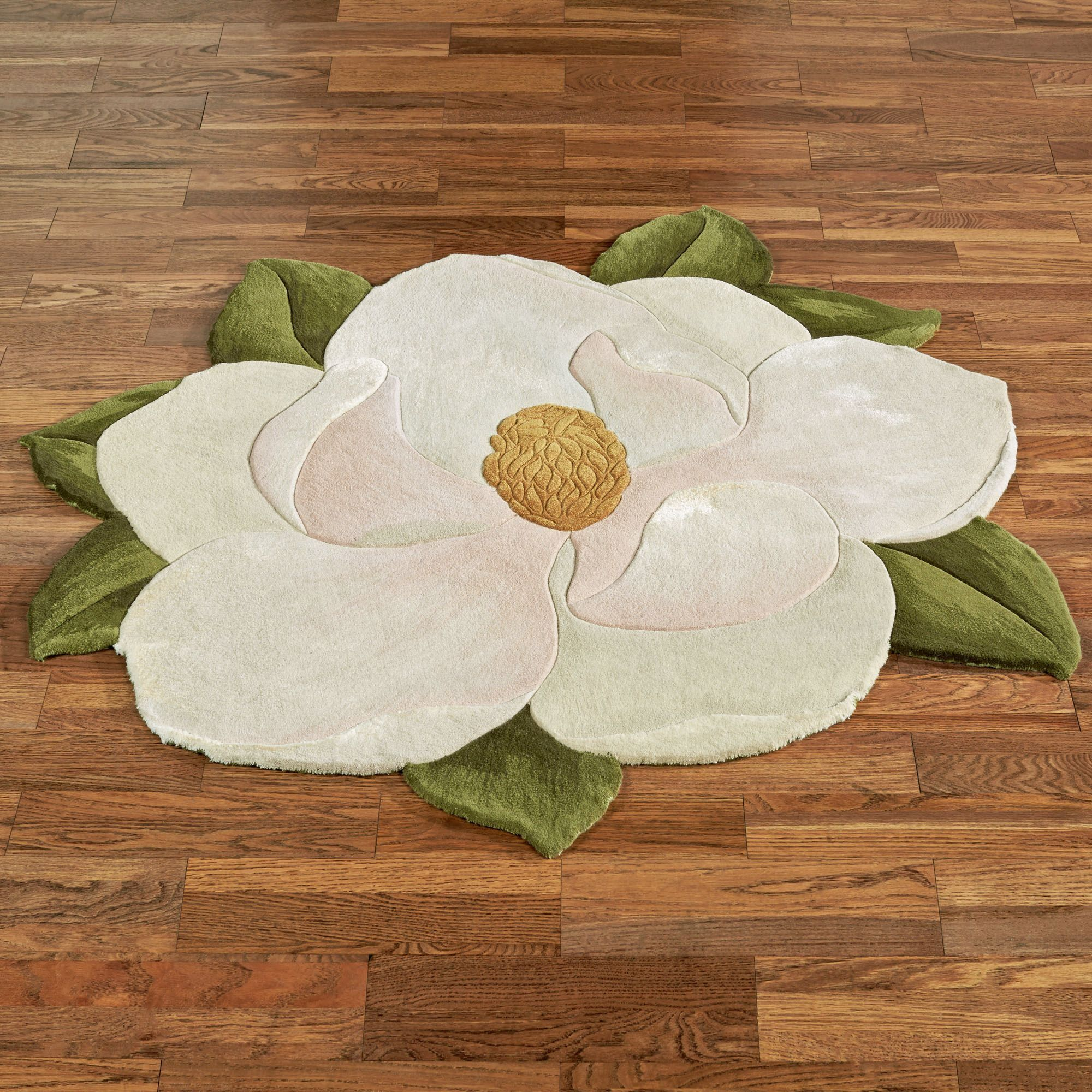 Carreen Magnolia Flower Shaped Rugs
