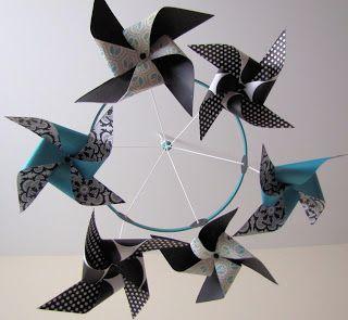 Hello, PinkBird: The Baby's Pinwheel Mobile (with Tutorial)