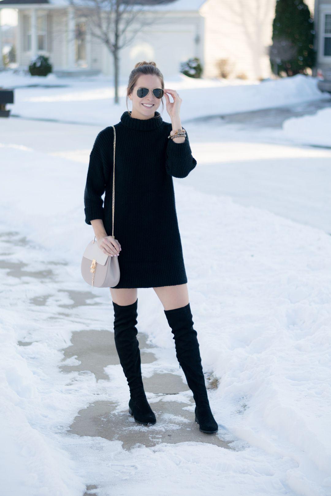 Black Turtleneck Sweater Dress From My Blog Pinterest Dresses