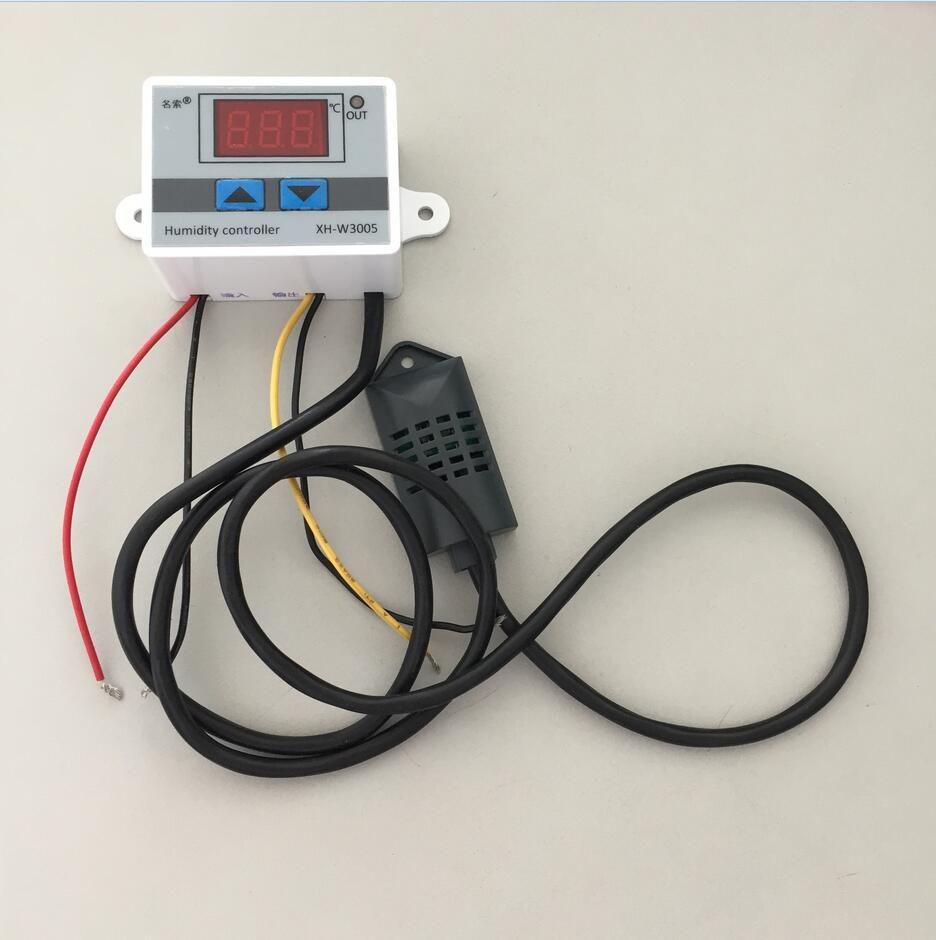 220 V 12 V 24 V Numerique Humidite Controleur Instrument Interrupteur De Commande D Humidite Hygrostat Hygrometre Sht20 C Instruments Power Electronic Products