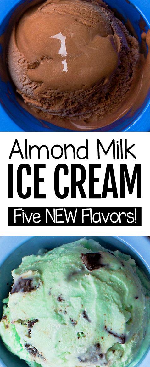 Almond Milk Ice Cream In 2020 Healthy Ice Cream Recipes Vegan Ice Cream Recipe Almond Milk Ice Cream