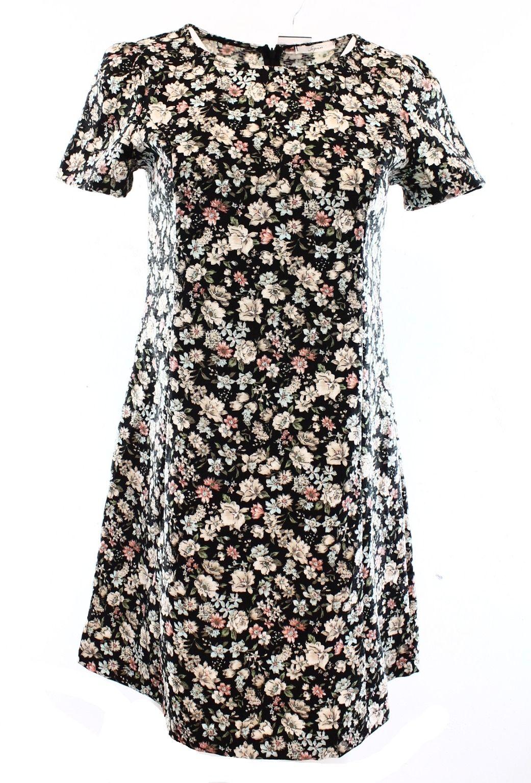 Soprano NEW Black Floral Print Women's Size Small S Junior Daytime ...