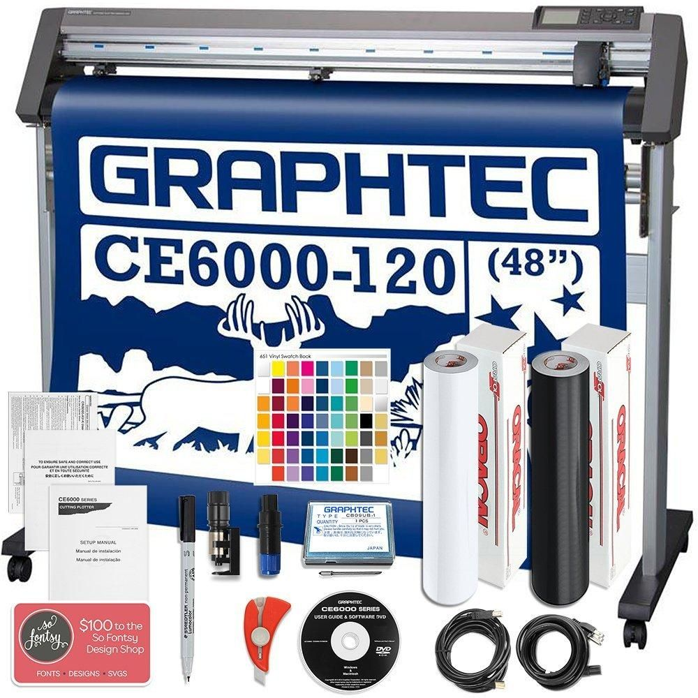 Graphtec Ce6000 120 Plus 48 Inch Professional Vinyl Cutter Plotter Bundle With 2100 In Software Swing Design Vinyl Cutter Vinyl Oracal Vinyl