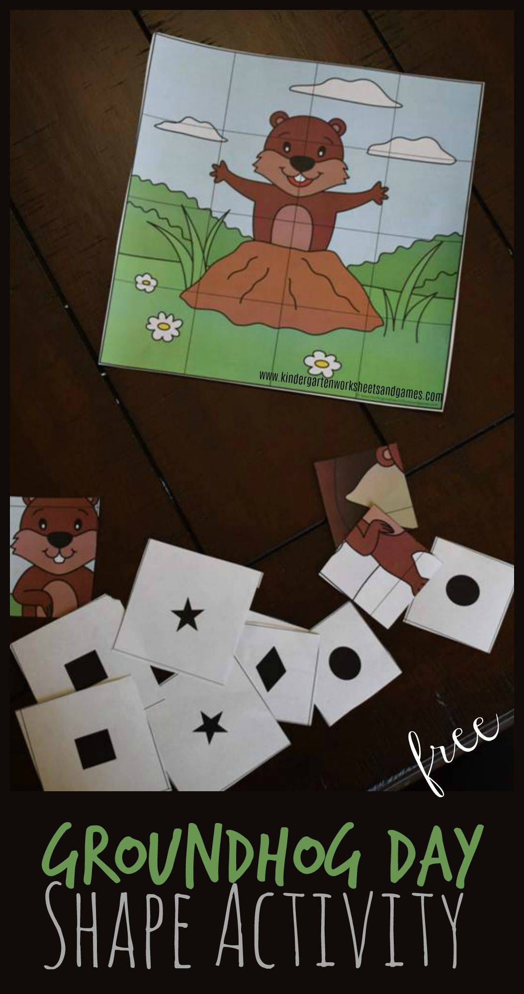 Free Printable Groundhog Day Shape Activities Is A Fun Way