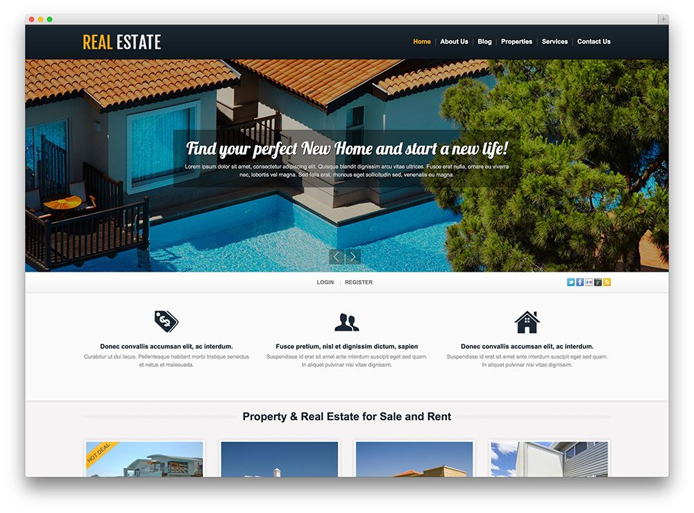 50 Stylish and Responsive Real Estate WordPress Themes (Part 4 ...