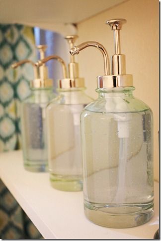 Vintage looking glass soap dispensers Glass house, Soap