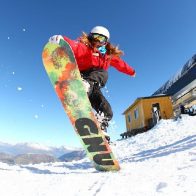 Snowboard girl, tailblock, new Zealand