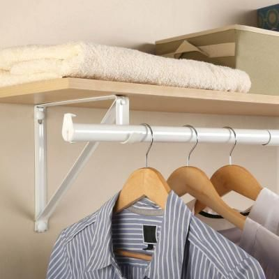 Captivating White Adjustable Closet Rod RP0021 48/72 At The Home Depot