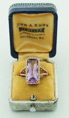 Amethyst in Rose Gold with Diamonds