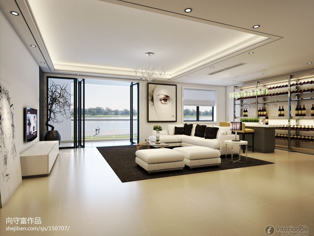 nice living room | Nice living room ceiling. | Interior design ...