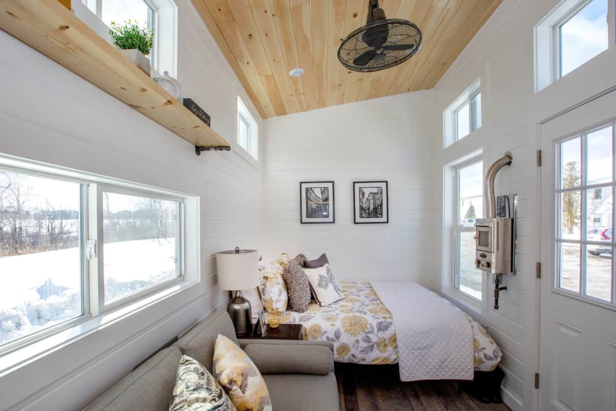 Brand New 24 X8 Modern Tiny House On Wheels Tiny House For Sale In Scarborough Maine Tiny House Li Tiny Living Rooms Tiny House Interior Tiny House Towns
