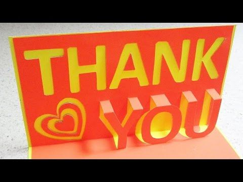 Thank You Pop Up Card Learn How To Make A Thankyou Popup Card From Template Ezycraft Diy Pop Up Book Thank U Cards Pop Up Cards