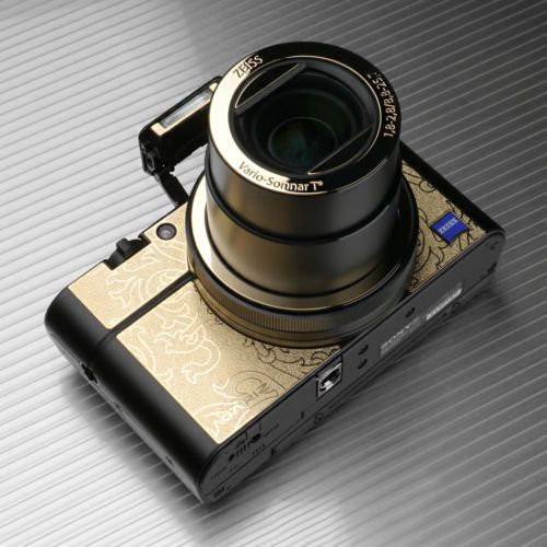 Camera-Metal-Sticker-Anti-Radiation-Skin-Case-For-Sony-RX100-III-M3-Flora-Gold