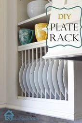 Inside Cabinet Plate Rack Complete instructions on how to install a plate rack inside DIY  Inside Cabinet Plate Rack Complete instructions on how to install a plate rack...