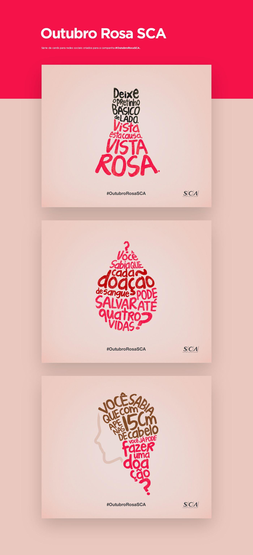 Outubro Rosa Sca On Behance Typography Pinterest