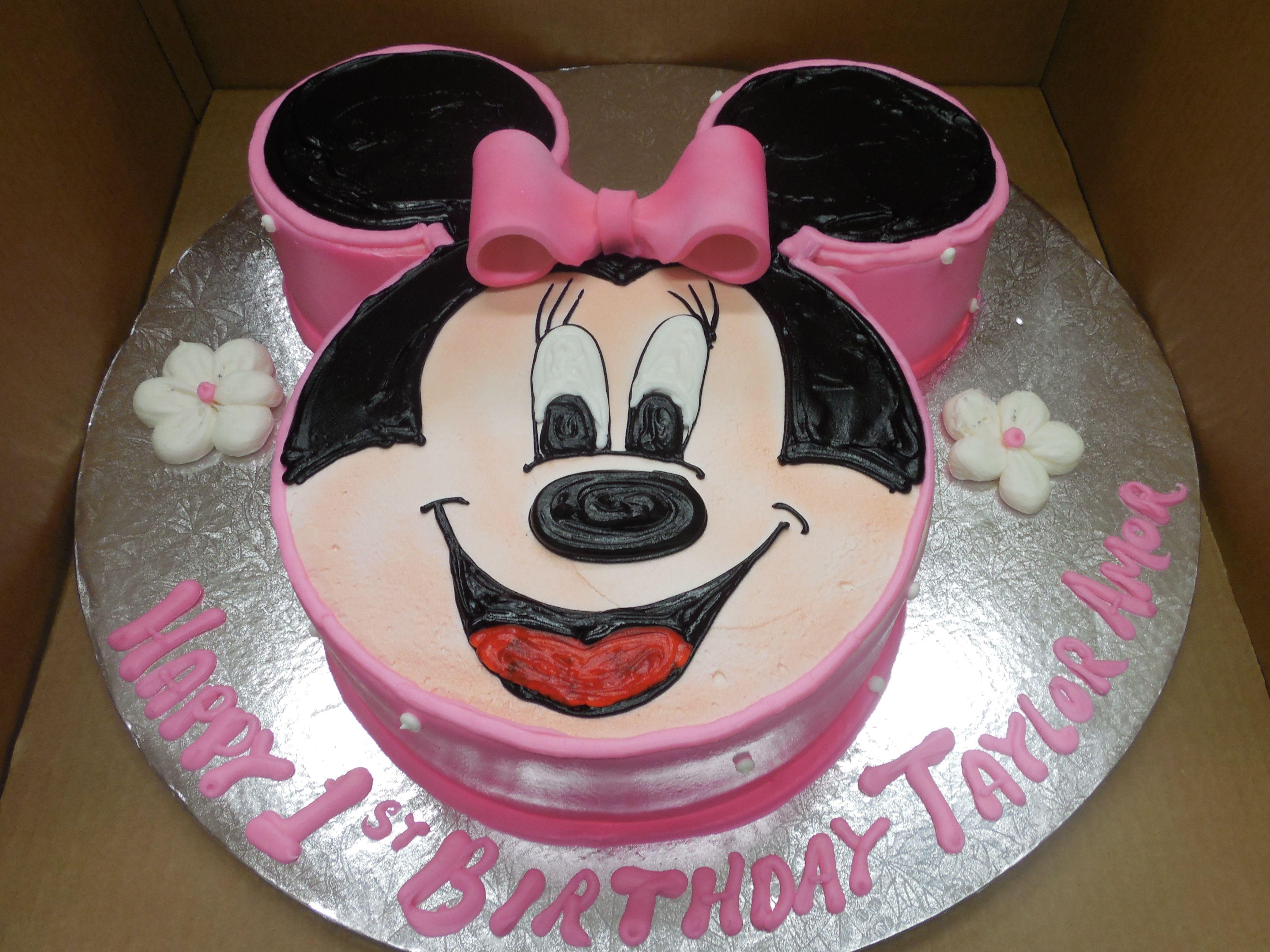 Calumet Bakery Minnie Mouse Face Cake 1st birthday cakes