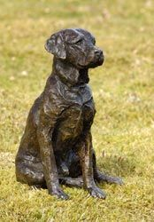 Artist: Rosemary Cook;  Sculpture: Teal, Labrador