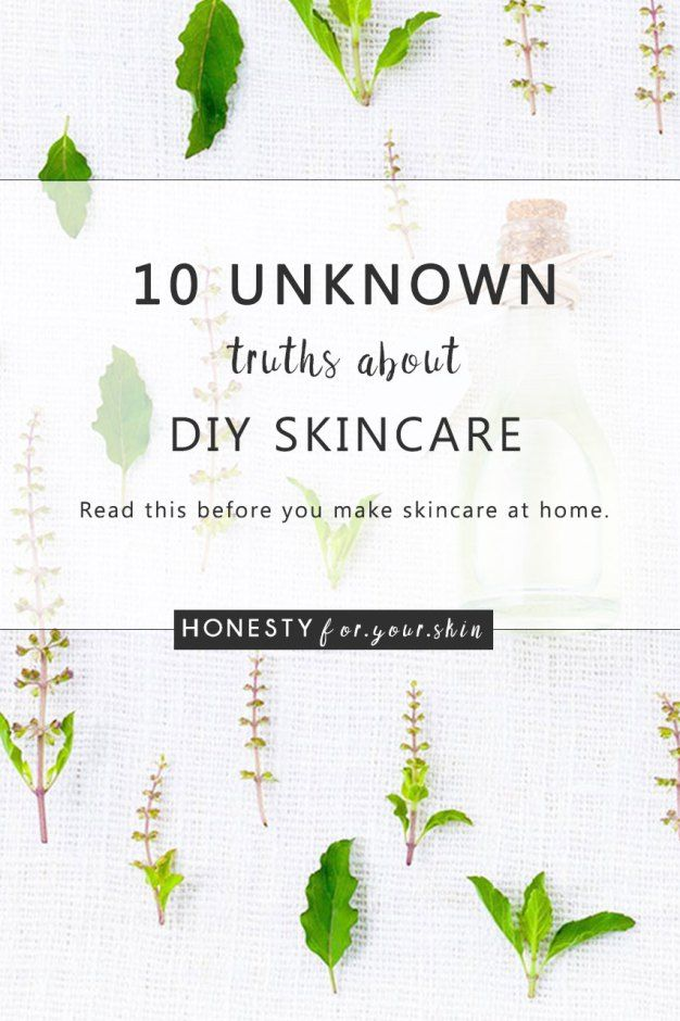 Excited to make Homemade Skincare? Read this first... | Honesty For Your Skin #homemadeskincare