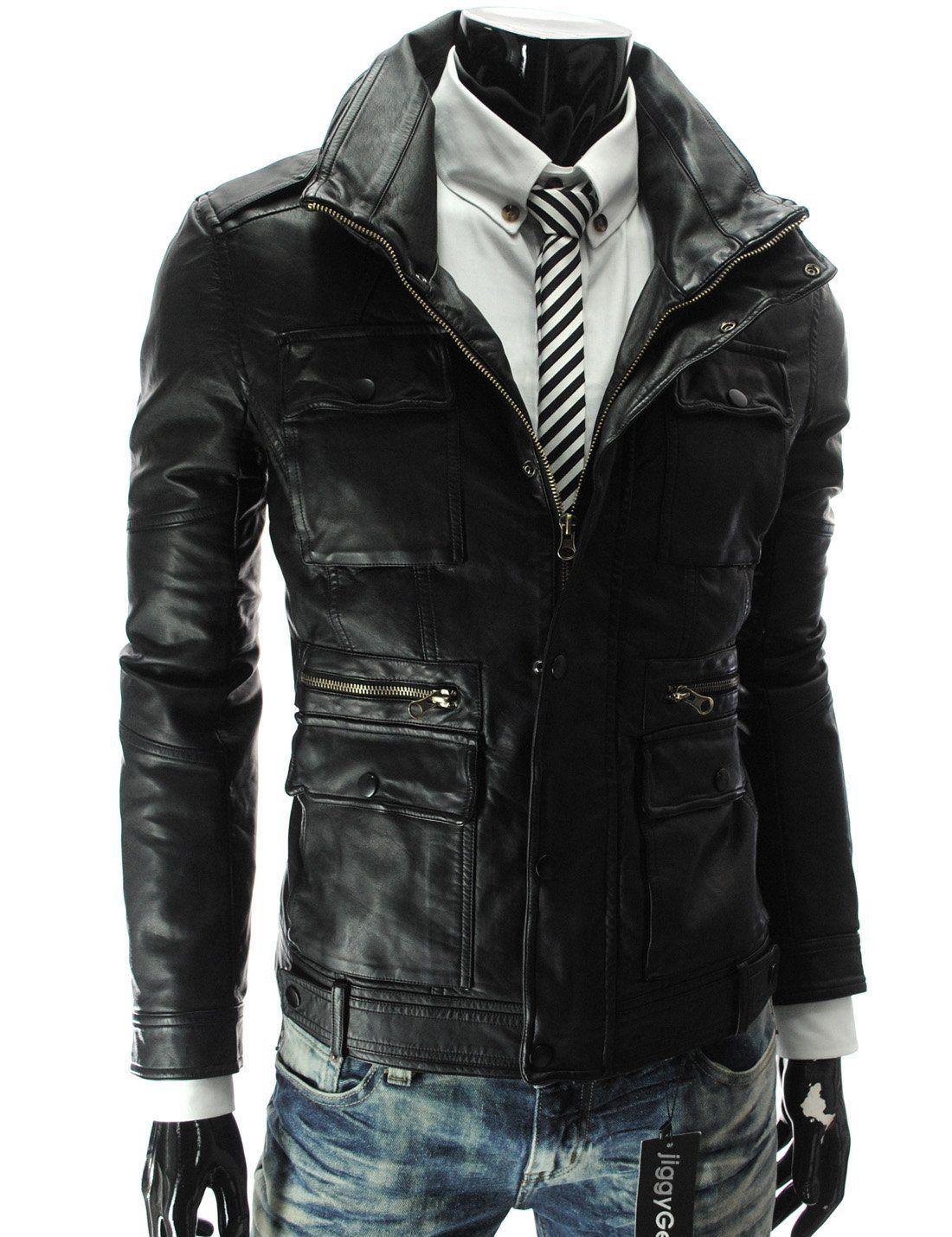 Handmade Custom New Men Front Stylish Pockets Medium Stylish Leather Jacket Leather Jacket Men Leather Jacket [ 1430 x 1100 Pixel ]