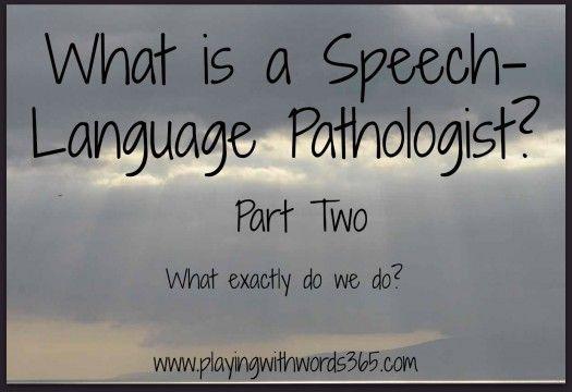 What Does A SpeechLanguage Pathologist Do  Language Speech