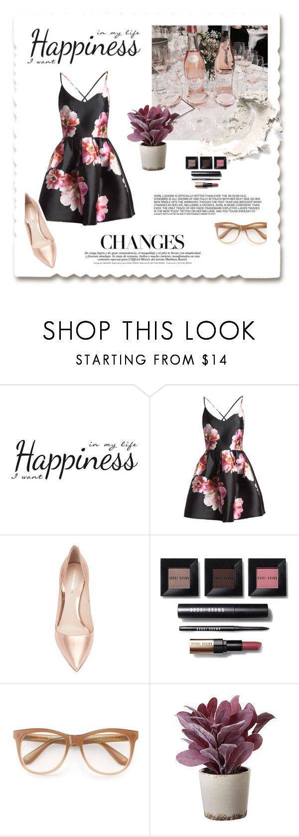 """Changes"" by gina-is-in-style ❤ liked on Polyvore featuring York Wallcoverings, Sans Souci, Nicholas Kirkwood, Bobbi Brown Cosmetics, Wildfox and Torre & Tagus"
