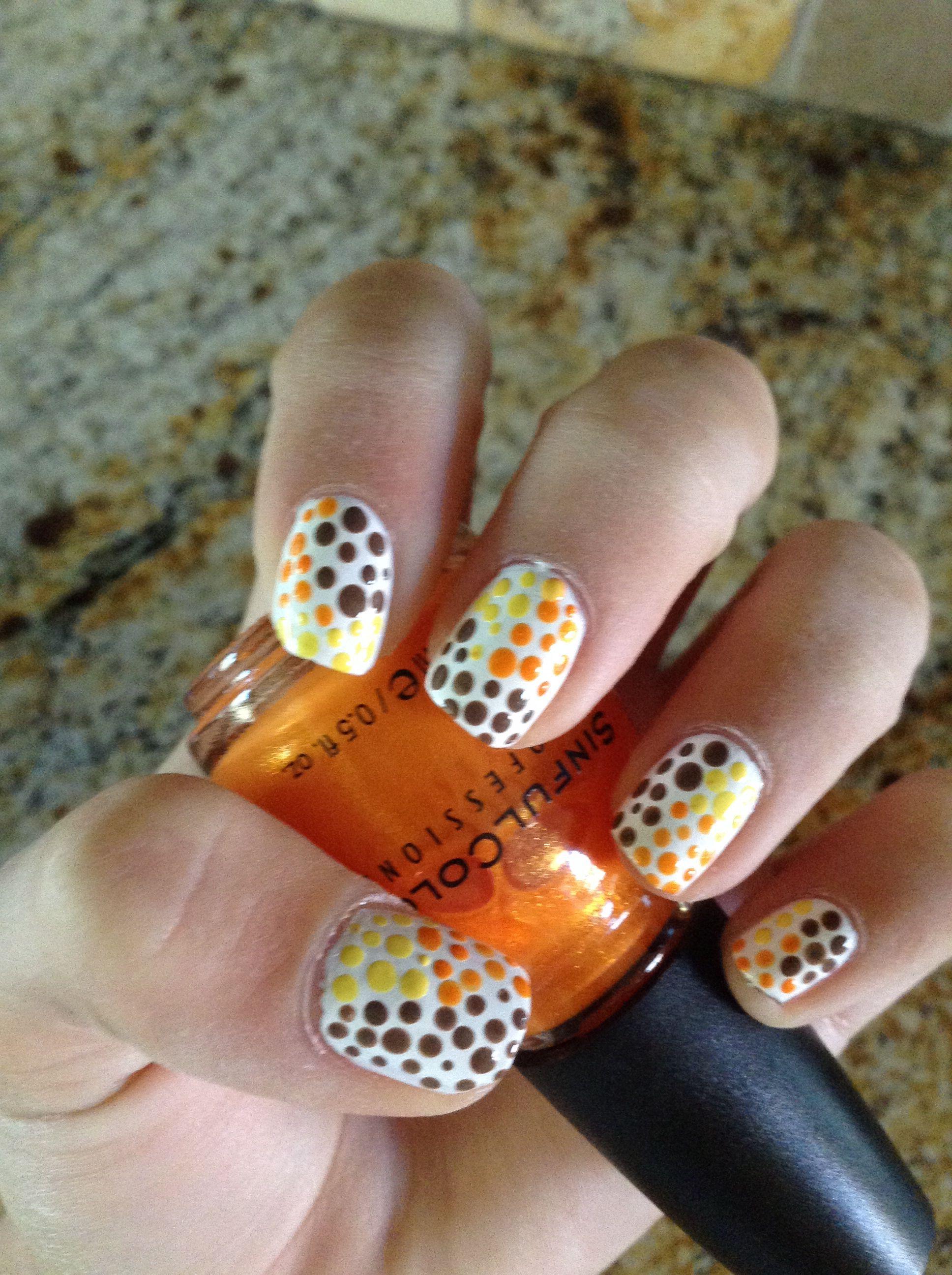 Fall colors nail art | Nails Nails Nails ❥ | Pinterest | Color ...