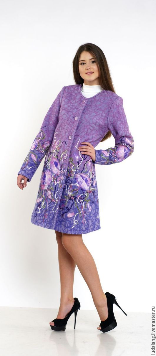 55b9d991a3e Верхняя одежда ручной работы. Ярмарка Мастеров - ручная работа. Купить  Пальто демисезонное Сиреневое воспоминание. Handmade. Сиреневый