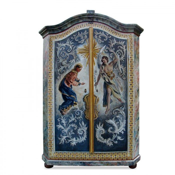 bauernschrank antik schrank bemalt georg schubert maler ferienhaus pinterest schrank. Black Bedroom Furniture Sets. Home Design Ideas