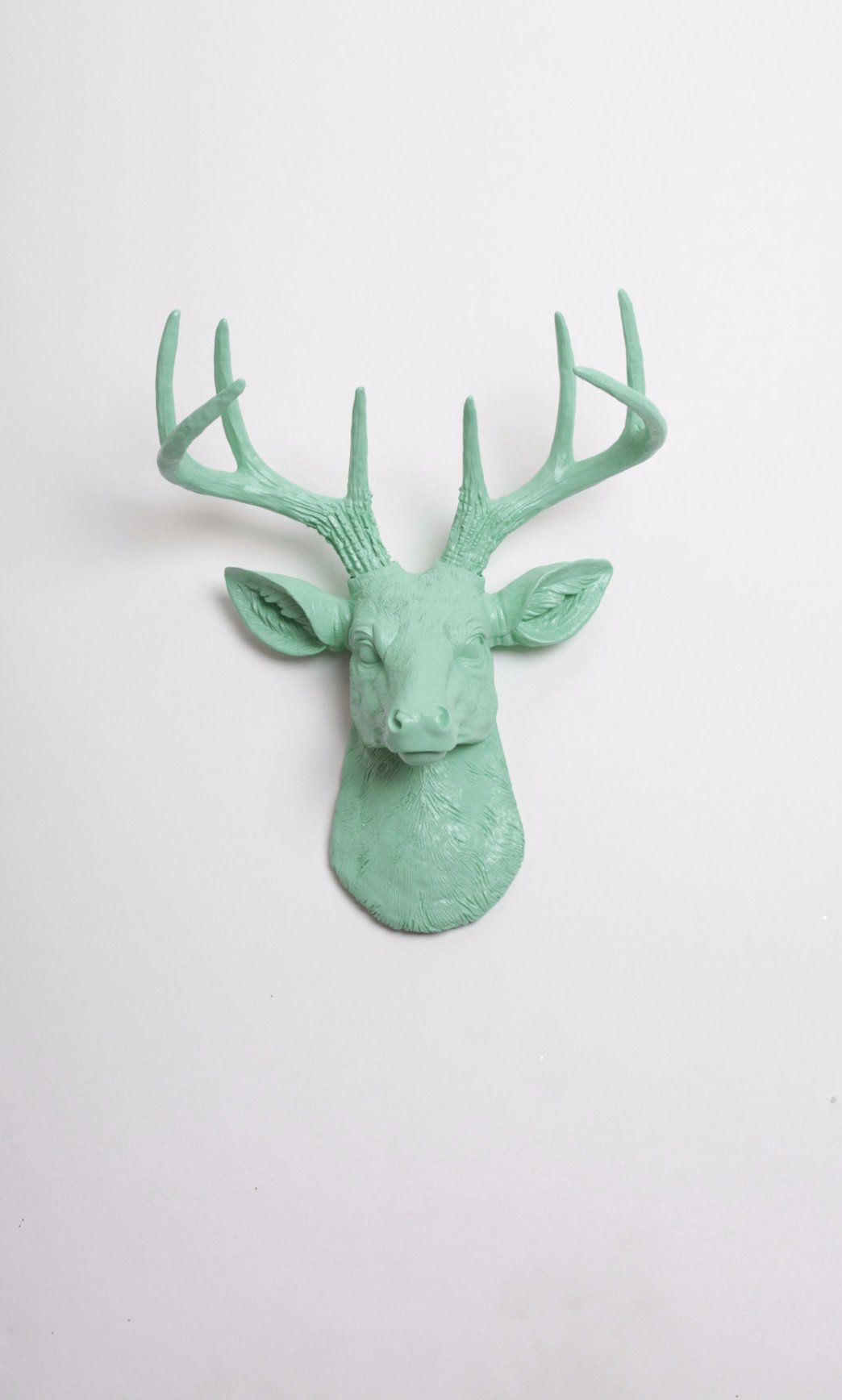 The MINI Eleanor | Stag Deer Head | Faux Taxidermy | Seafoam Resin