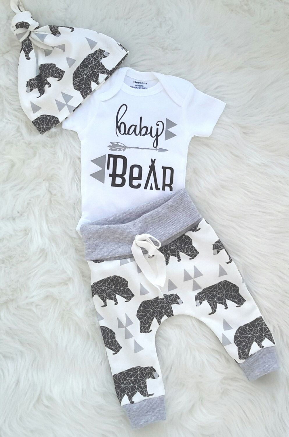 23c31d93caf2 Baby boy coming home outfit baby bear  take home outfit  newborn boy ...