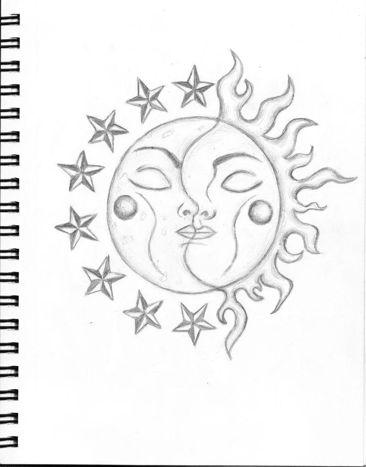 Bildergebnis Fur Doodle Art Vorlagen Sun And Moon Drawings Moon Drawing Easy Drawings