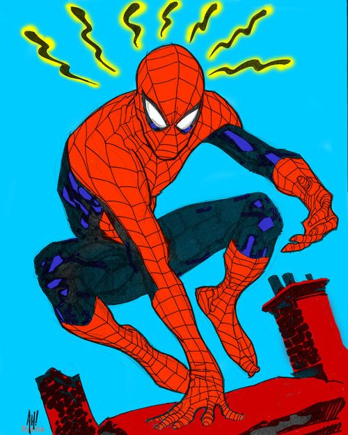 Spidey by Adam Hughes