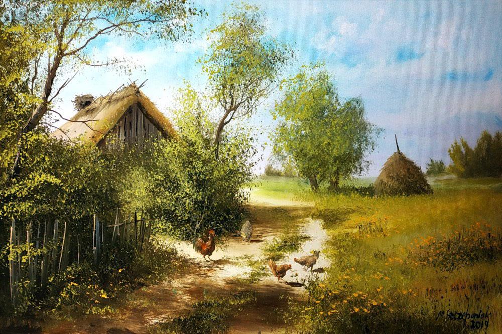 Открытку папе, лето в деревне открытки