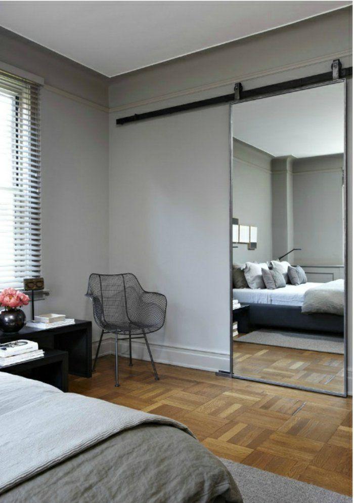 Favori porte-coulissante-à-galandage-mur-gris-parquet-en-bois-clair  CQ45
