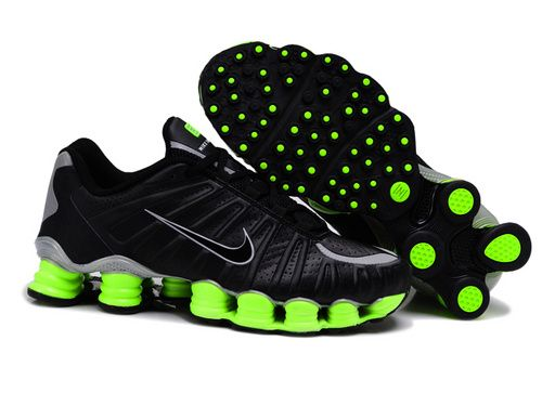 newest 3235c 8674f Nike Shox TLX Men s Tennis Shoes black green