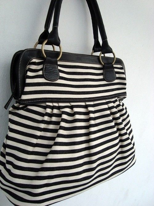 Purse Handbag Black White Denim Want This In Navy And
