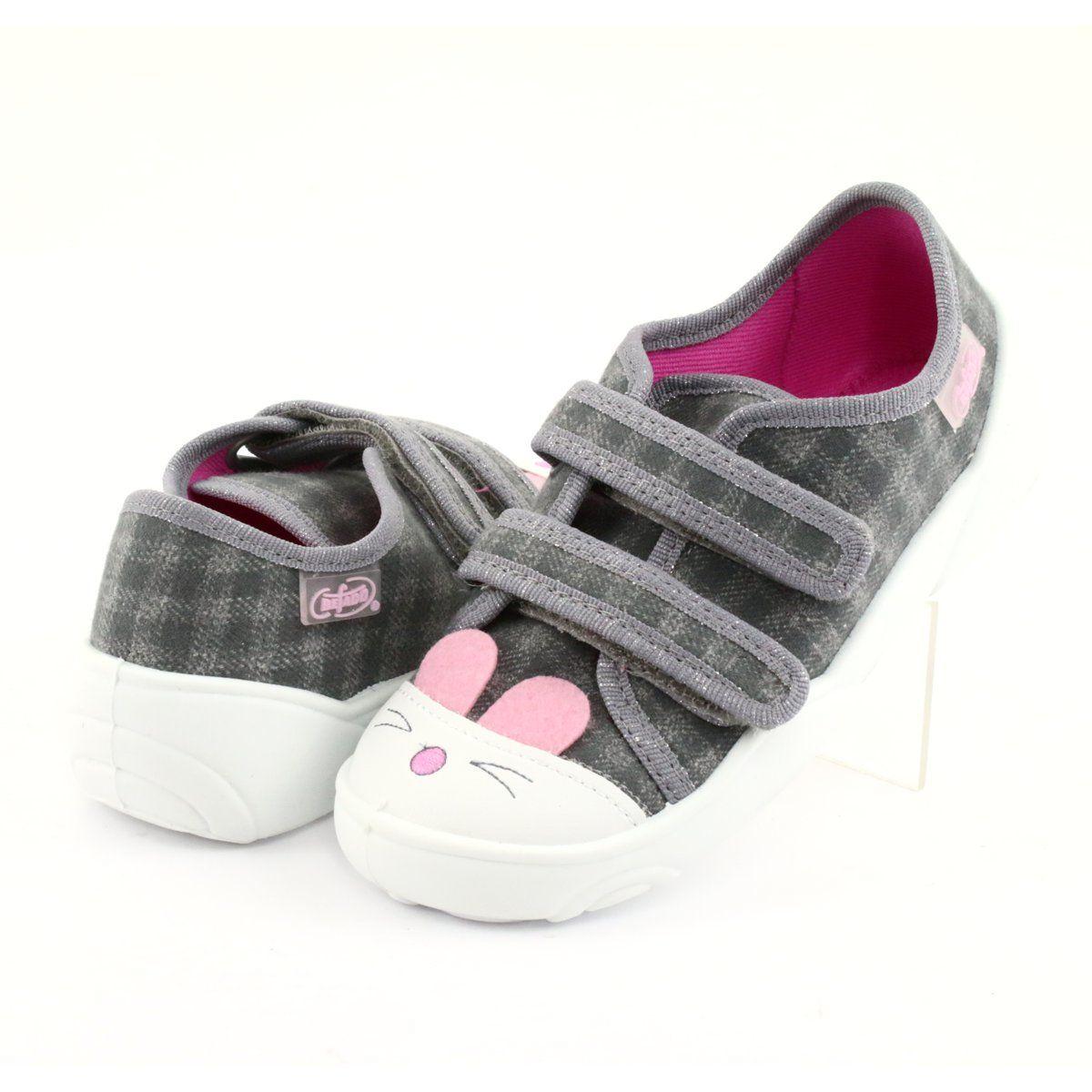 Befado Children S Shoes 907p108 Pink Grey Childrens Slippers Slippers For Girls Childrens Shoes