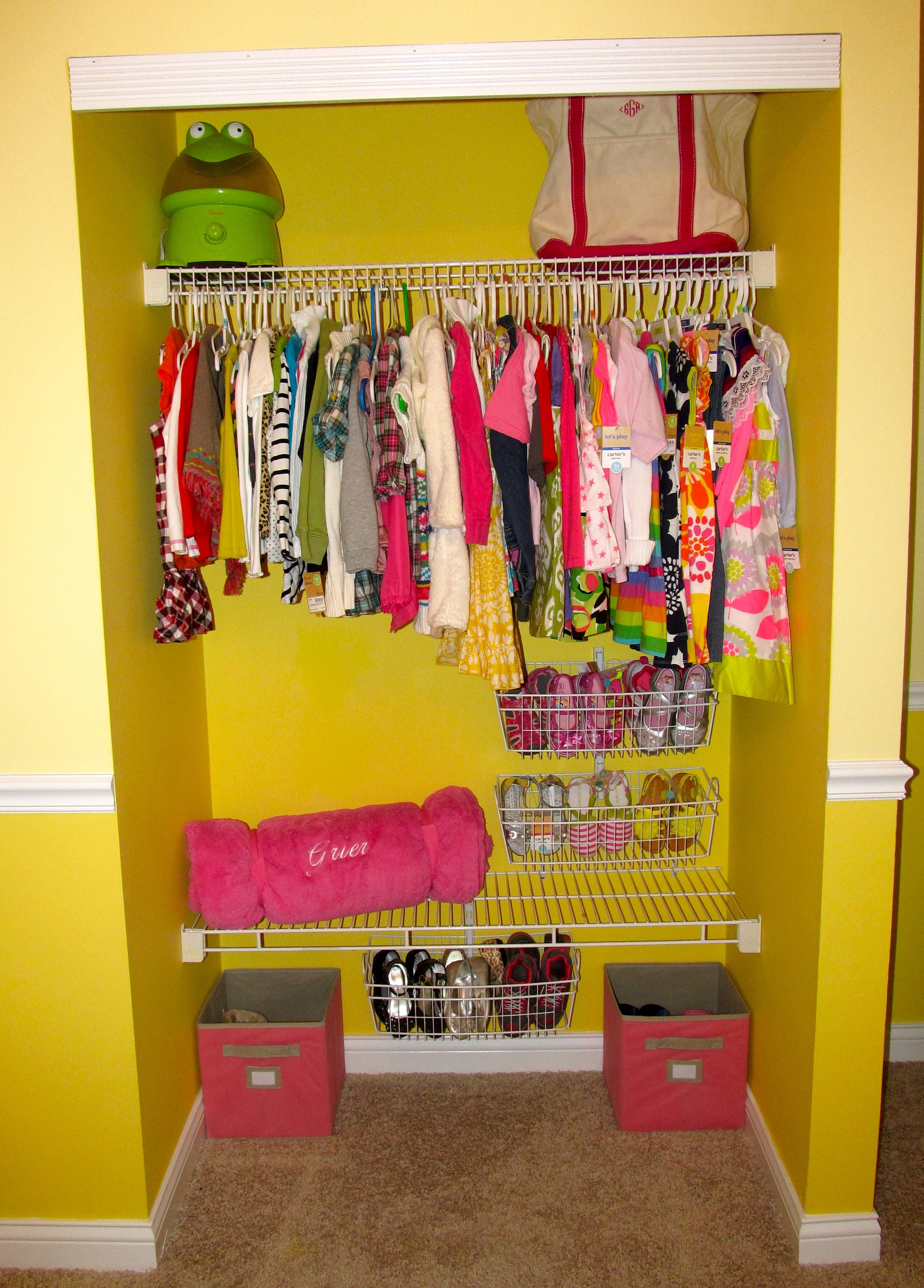 Open Closet With Lots Of Storage In The Child S Room No