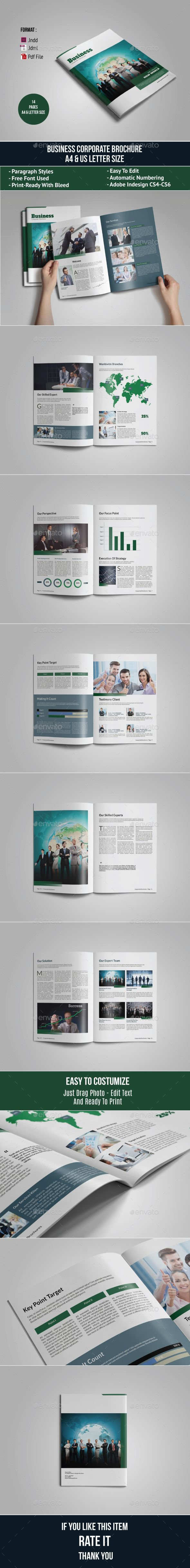 Corporate Business Brochure Template InDesign INDD. Download here: http://graphicriver.net/item/corporate-business-brochure-template/14761561?ref=ksioks