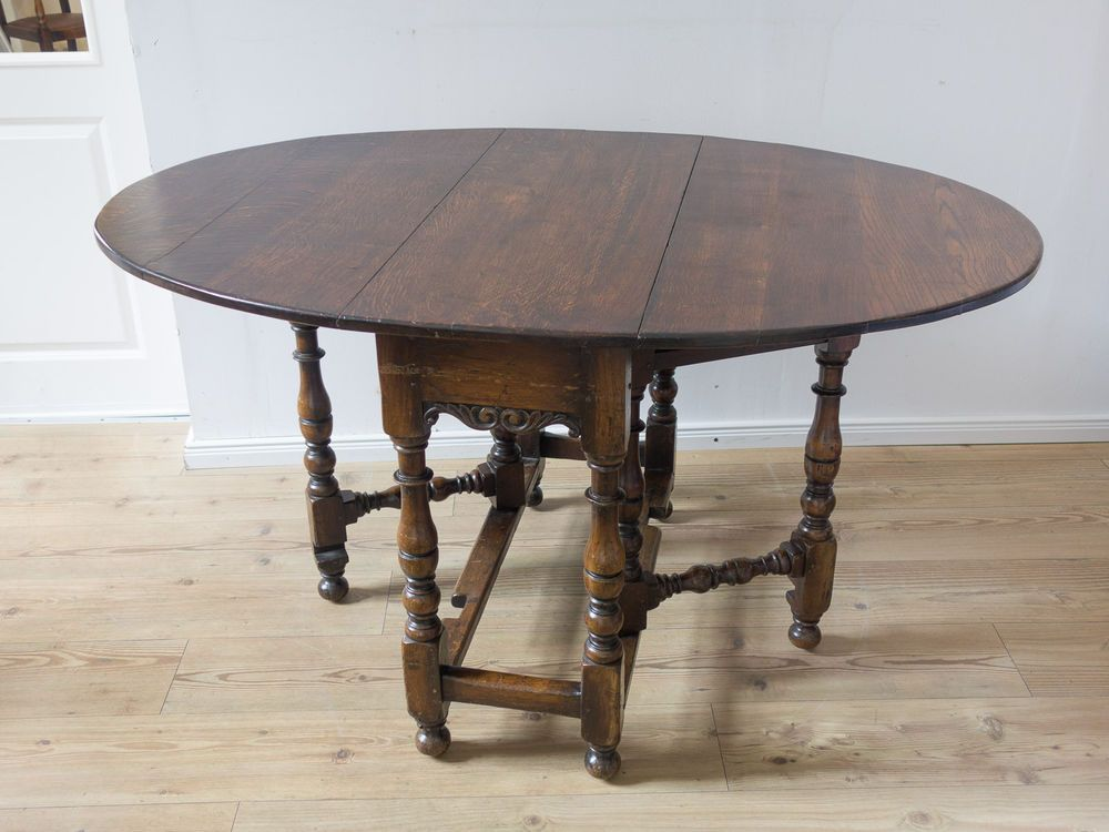 Gateleg Tisch.Großer Antiker Beistelltisch Gateleg Tisch Klapptisch